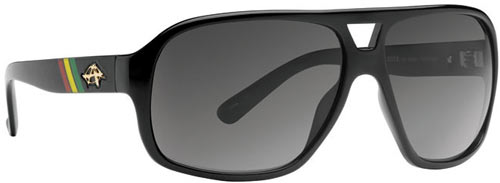 Anarchy Indie Sunglasses - 420 Ebony / Smoke Polarized