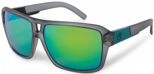 Dragon The Jam Sunglasses - Jet Matte Grey / Green Ion