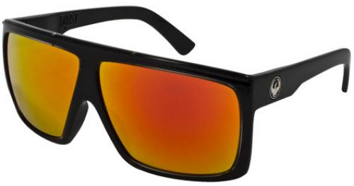 Dragon Fame Sunglasses - Jet / Red Ion