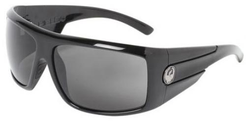 Dragon Shield Sunglasses - Jet / Grey