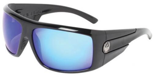 Dragon Shield Sunglasses - Jet / Blue Ion
