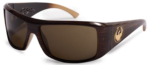 Dragon Calaca Sunglasses - Mocha Stripe / Bronze