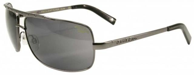 Black Flys Frequent Flyer Sunglasses - Shiny Gunmetal / Smoke