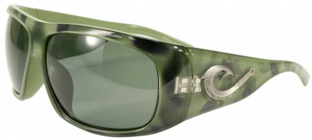 Black Flys Tahitian Hooker Sunglasses - Green Snake / G-15 Polarized