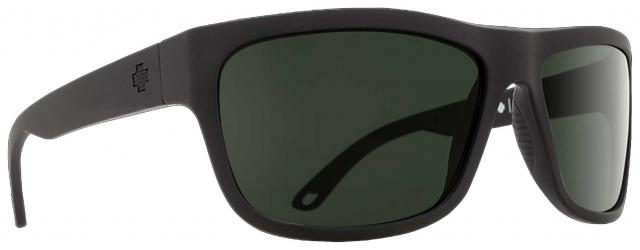 Spy Angler Sunglasses - Matte Black / Happy Grey Green