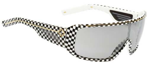 Spy Tron Sunglasses - Checkers / Grey Gradient Mirror