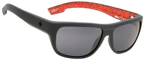 Spy Lennox Sunglasses - Matte Black / Red Flake / Grey