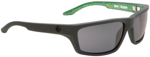 Spy Kash Sunglasses - Matte Black / Green Flake / Grey