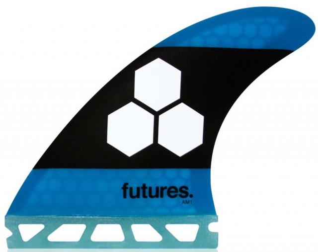 Futures AM1 Surfboard Fin Set - Blue / Black