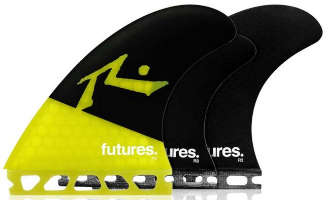 Futures Rusty Surfboard Five-Fin Set - Yellow / Black