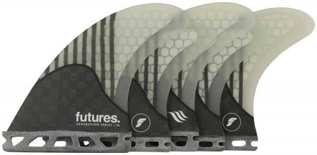 Futures F6 Surfboard Five-Fin Set - Clear
