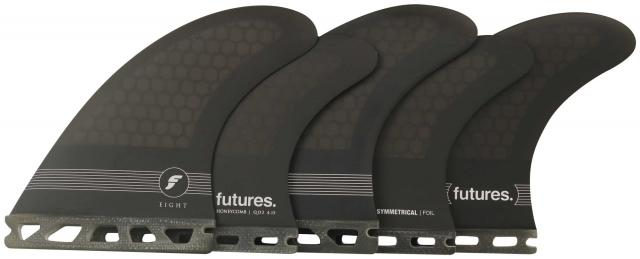 Futures F8 Honeycomb Surfboard Five-Fin Set - Smoke Black / White