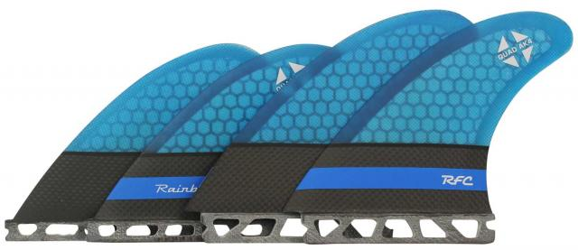 Rainbow AK4 Pro Core Surfboard Fin Set - Futures Base - Blue