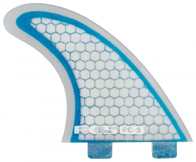 FCS PC-5 Performance Core Surfboard Fin Set - Blue / Clear