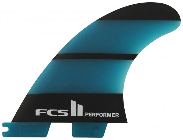 FCS II Performer Neo Glass Tri Fin Set - Blue / Black