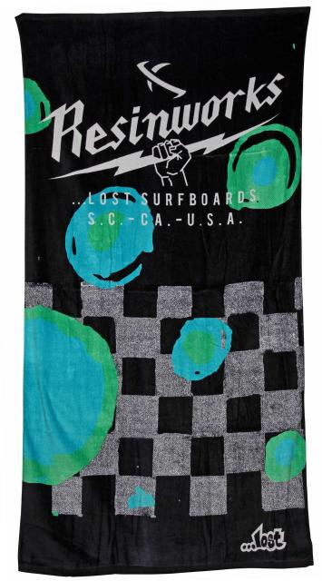Lost Fractured Beach Towel - Turquoise
