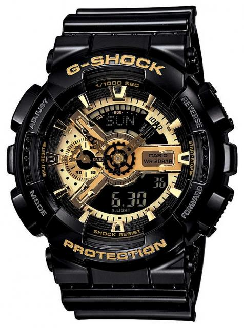 G-Shock X-Large Combination Watch - Black / Gold