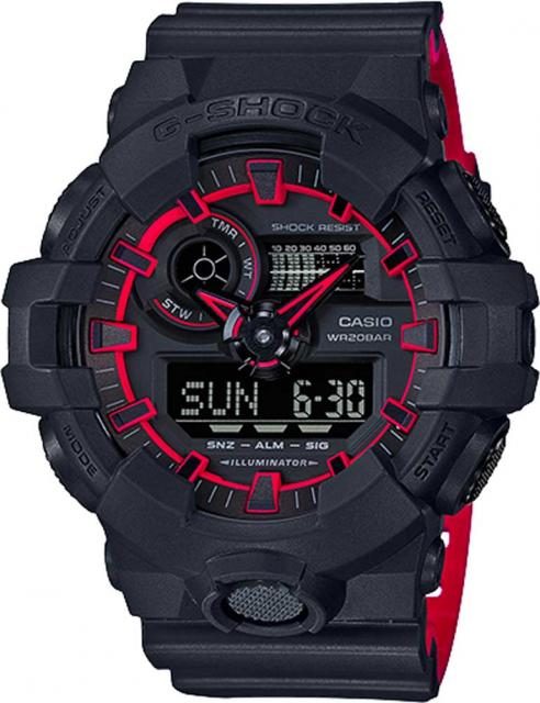 G-Shock GA700SE Watch - Black / Red
