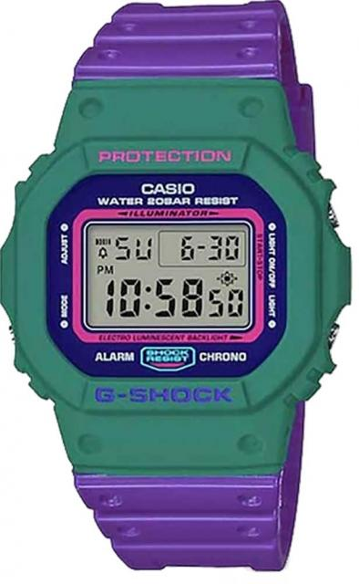 G-Shock DW5600TB Watch - Green / Purple