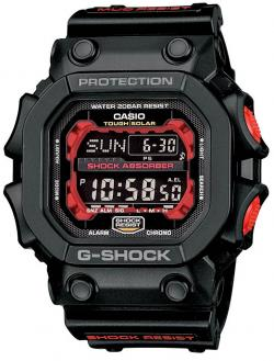 G-Shock Big Digital Solar Watch - Black / Red