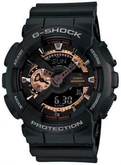G-Shock X-Large Combination Watch - Black / Rose Gold