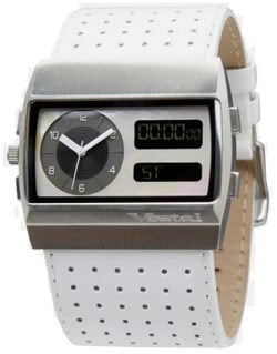 135202952 Vestal Monte Carlo Leather Watch - White / White For Sale at Surfboards.com  (257002)