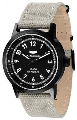 Vestal Alpha Bravo Canvas Watch - Grey / Black