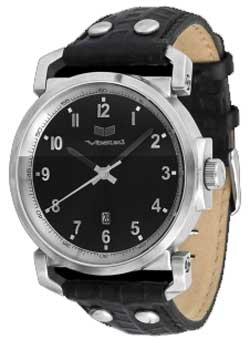 Vestal Observer Watch - Black / Silver / Black