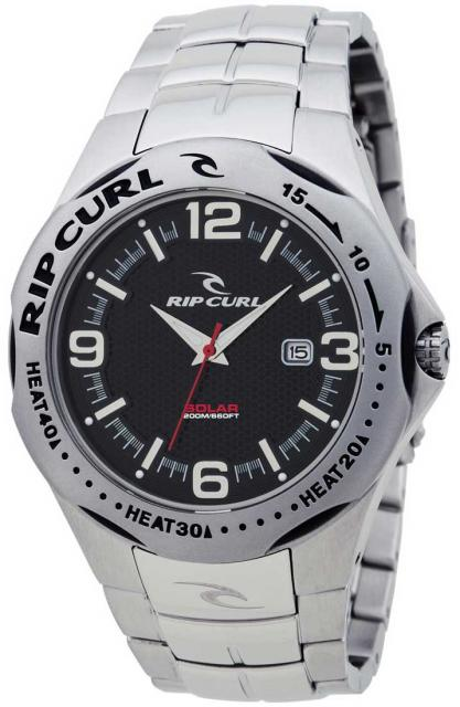 Rip Curl Solar Barrel SS Watch - Black