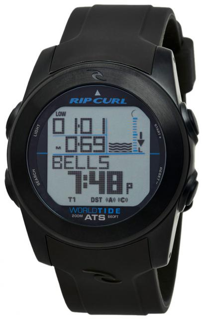 Rip Curl Pipeline World Tide Watch - Midnight White