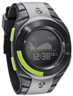Nixon Outsider Tide Watch - Grey / Black / Lime