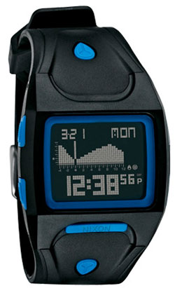 Nixon Lodown Tide Watch - Black / Project Blue