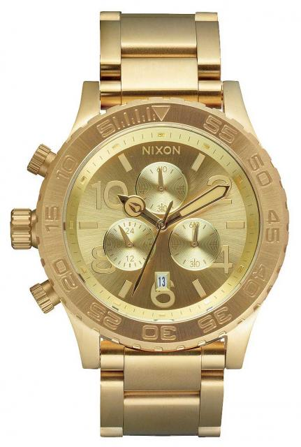 Nixon 42-20 Chrono Watch - All Gold