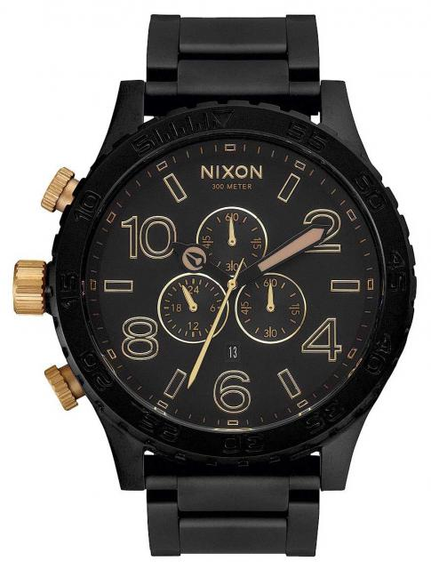 Nixon 51-30 Chrono Watch - Matte Black / Gold