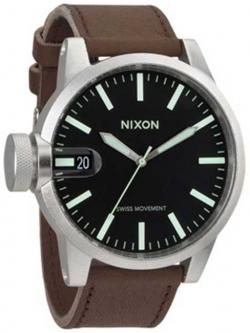 Nixon Chronicle Watch - Black / Saddle