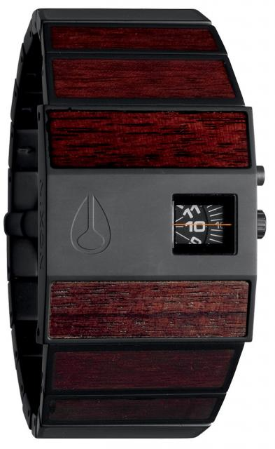 Nixon Rotolog Watch - Dark Wood / Black