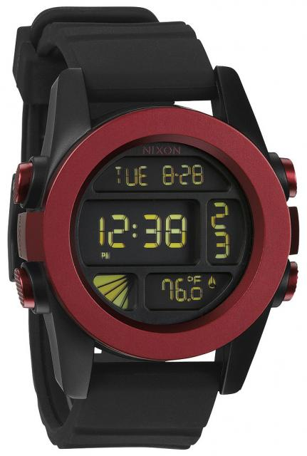Nixon Unit Watch - Dark Red / Black Ano