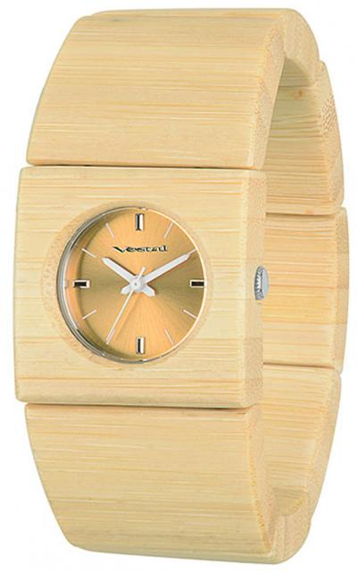 Vestal Rosewood Slim Watch - Bamboo