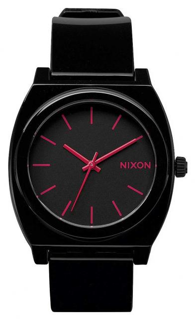 Nixon Time Teller P Watch - Black / Bright Pink