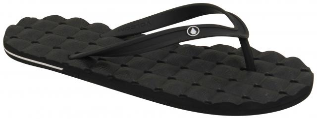 Volcom Recliner Rubber 2 Sandal - Black