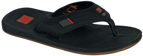 DC Bruce Irons Sandal - Black / True Red