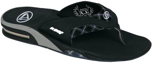 Reef Fanning Sandal - Black / Black Plaid