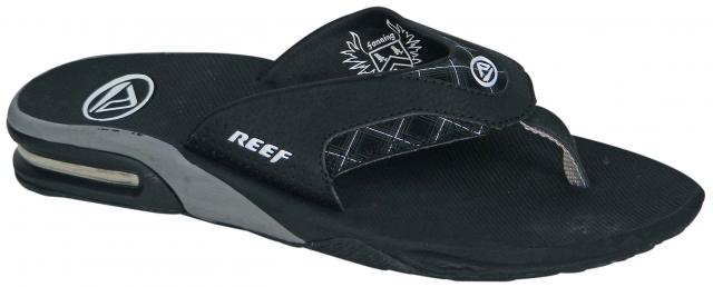 Reef Fanning Prints Sandal - Classic Black Plaid