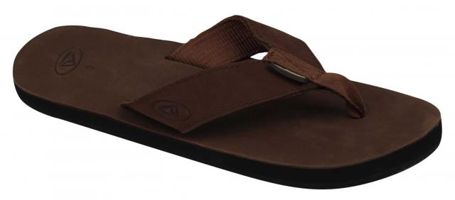 Reef Leather Smoothy Sandal - Brown