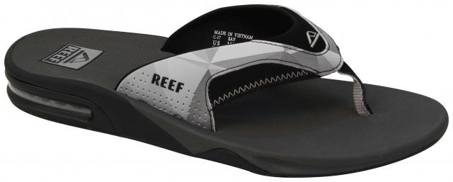 7389ad636e9 Reef Fanning Prints Sandal - Grey   Black For Sale at Surfboards.com ...