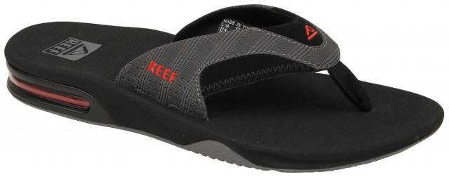 b2f0ae4a2e4 Reef Fanning Prints Sandal - Grey Plaid   Black For Sale at Surfboards.com  (2842362)