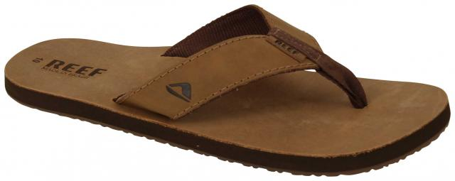 Reef Leather Smoothy Sandal - Bronze / Brown