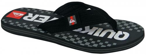 Quiksilver Channel Sandal - Black / Grey / Red