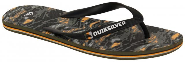 Quiksilver Molokai Art Series Sandal - Black / Orange / Grey
