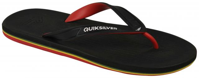 ef6bfb7f2 Quiksilver Haleiwa II Sandal - Black   Red   Green - New